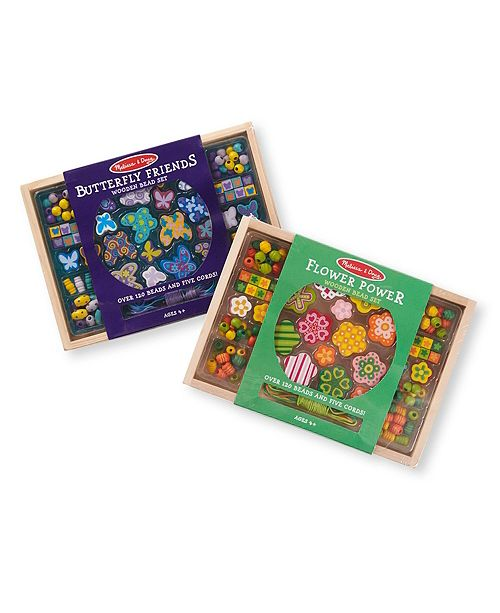 Melissa and Doug Melissa Doug Bead Set Bundle Butterfly and Flowers