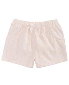 Baby Girls Eyelet Shorts, Created For Macy's