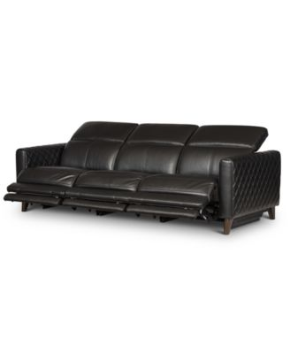 Jaconna 3-Pc. Leather Sofa with 3 Power Recliners, Created for Macy's