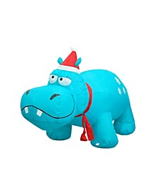 4' Inflatable Hippo
