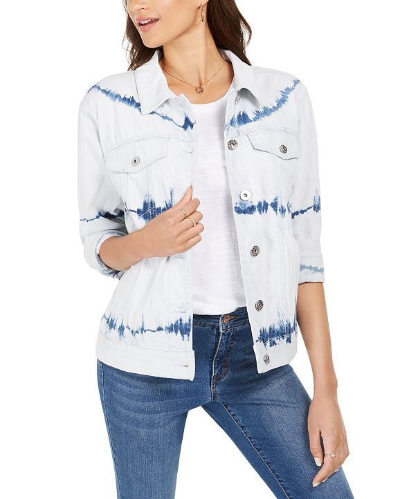 Style & Co Vintage Denim Jacket, Created for Macy's