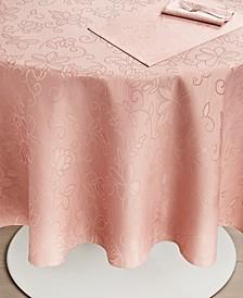 "CLOSEOUT! Vivian Floral Blush Tablecloth, 70"" Round"