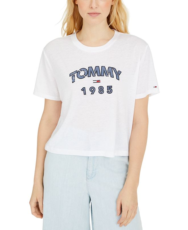 Tommy Jeans Logo Graphic Cropped T-Shirt