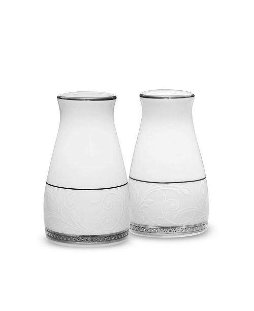 Noritake Regina Platinum Salt & Pepper, 3-1/4""