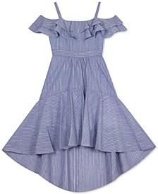 Big Girls High-Low Chambray Dress