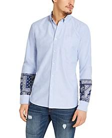 Men's Regular-Fit Oxford Bandana Shirt, Created For Macy's