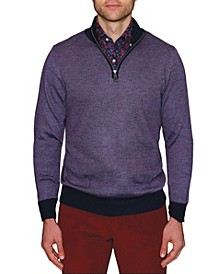Men's Birdseye Quarter-Zip Sweater
