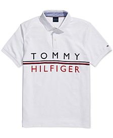 Men's Lawrence Custom-Fit Logo-Print Polo Shirt with Magnetic Buttons
