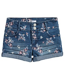 Big Girls Butterfly-Print Shorts, Created For Macy's