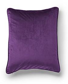 Velvet Color Block Decorative Throw Pillow
