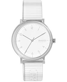 Men's Aaren Transparent Clear Polyurethane Strap Watch 41mm