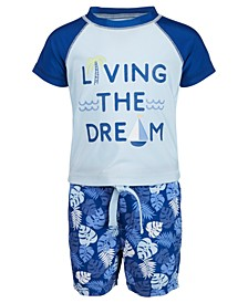 Baby Boys 2-Pc. Living the Dream Rash Guard Set, Created for Macy's