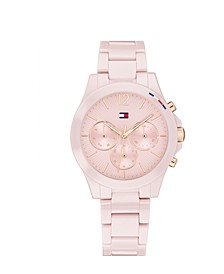 Women's Chronograph Blush Ceramic Bracelet Watch 38mm