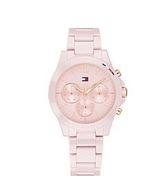 Women's Chronograph Blush Ceramic Bracelet Watch 38mm, Created for Macy's