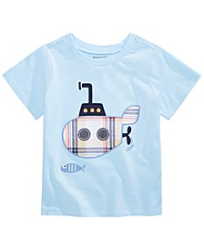 Baby Boys Plaid Submarine Cotton T-Shirt, Created For Macy's