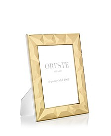 Gold Plated Picture Frame on a White Lacquered Wooden Back