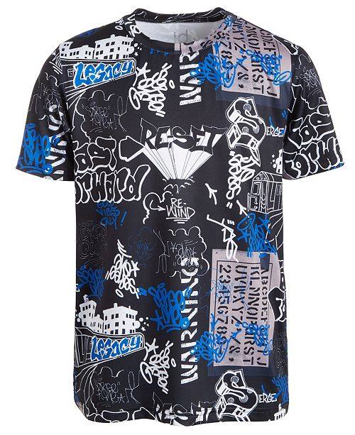 Ideology Big Boys Graffiti-Print T-Shirt, Created For Macy's