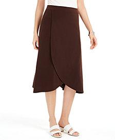 JM Collection Solid Tulip-Hem Skirt, Created for Macy's
