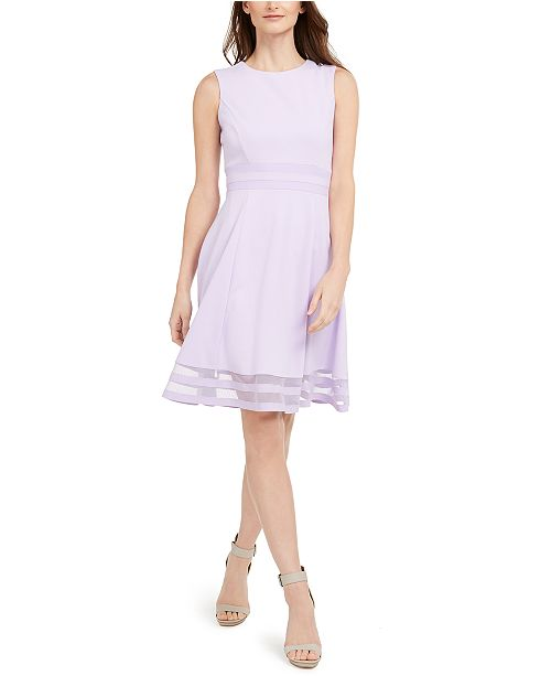 Calvin Klein Illusion Fit & Flare Dress