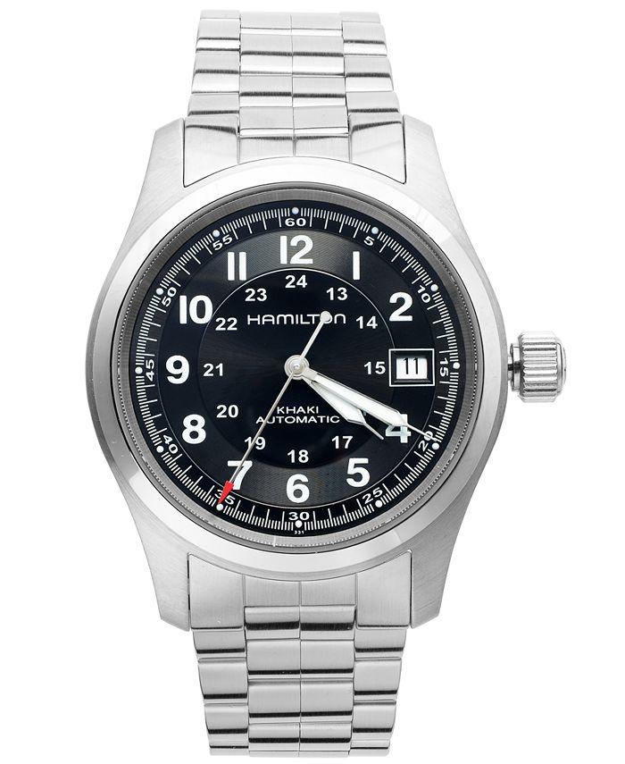 Hamilton - Watch, Men's Swiss Automatic Khaki Field Stainless Steel Bracelet 38mm H70455133