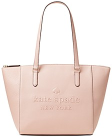 Sienne Leather Logo Tote