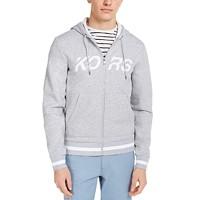 Deals on Michael Kors Mens Full-Zip Fleece Logo Hoodie