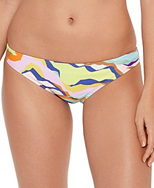Juniors' Zebra-Print Hipster Bikini Bottoms, Created for Macy's