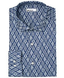 Men's Organic Cotton Slim-Fit Lattice-Leaf Dress Shirt, GOTS Certified, Created for Macy's
