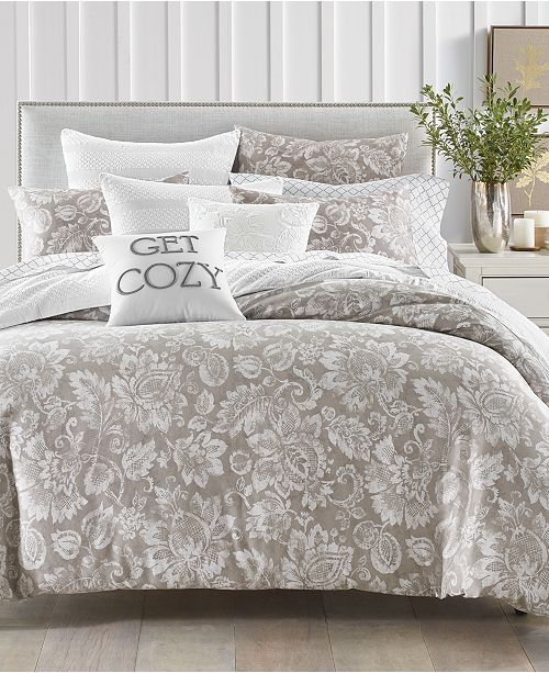 Charter Club Jacobean 300-Thread Count 3-Pc. King Duvet Set, Created For Macy's