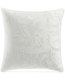 "Jacobean Embroidered 18"" Square Decorative Pillow, Created for Macy's"