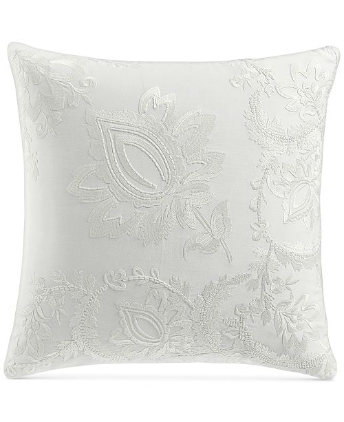 "Charter Club Jacobean Embroidered 18"" Square Decorative Pillow, Created For Macy's"
