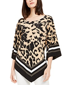 Printed Point-Hem Top, Created for Macy's