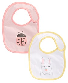 Baby Girls 2-Pk. Reversible Bib Set, Created for Macy's