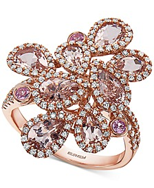 EFFY® Multi-Gemstone (2-1/2 ct. t.w.) & Diamond (1/2 ct. t.w.) Statement Ring in 14k Rose Gold