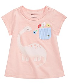 Baby Girls Dinosaur-Print Cotton T-Shirt, Created for Macy's