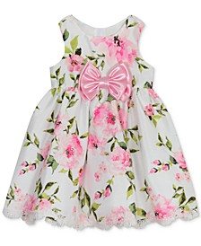 Baby Girls Floral-Print Bow Dress