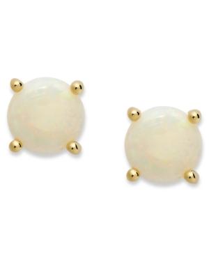 18k Gold over Sterling Sterling Earrings, October's Birthstone Opal Stud Earrings (1-1/5 ct. t.w.)