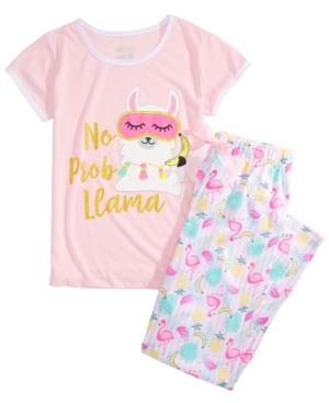 Max & Olivia Big Girls No Probllama Pajamas Set