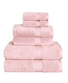 American Dawn Estella Zero Twist 6 Piece Bath Towel Set