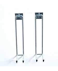 Storability Long Handle Tool Hooks for Use with Top Track, 2 Pack