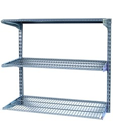 Storability Wall Mount Shelving Unit with 3 Steel Wire Shelves Mounting Hardware