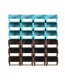 Locbin 26 Piece Wall Storage Unit, Wall Mount Rails with Hardware, 2 Pack