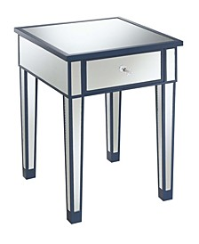 Gold Coast Mirrored End Table With Drawer