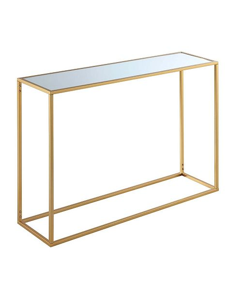 Convenience Concepts Gold Coast Mirrored Console Table
