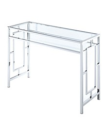 Town Square Chrome Desk With Shelf