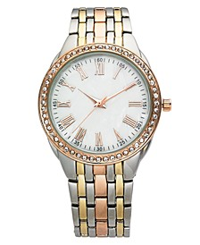 Women's Tri-Tone Bracelet Watch 40mm, Created for Macy's