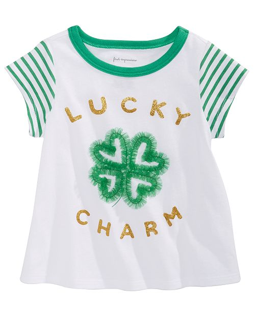 First Impressions Baby Girls Lucky Charm-Print T-Shirt, Created For Macy's