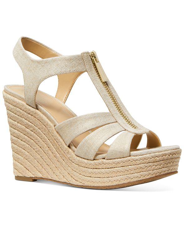 Michael Kors Berkley Espadrille Wedge Sandals