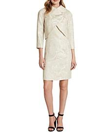 Jacquard Wrap Jacket & Sheath Dress Suit
