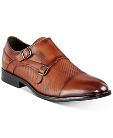 Men's Thatcher Textured Double Monk-Strap Shoes, Created for Macy's